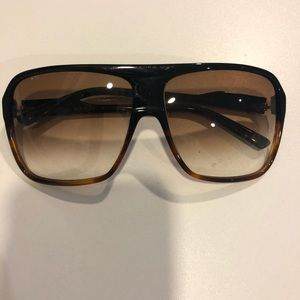 Marc Jacobs Two-tone shield sunglasses